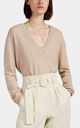 LES COYOTES DE PARIS Women's Ariana Cashmere V-Neck Sweater - Beige, Tan