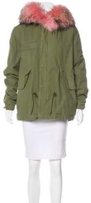 Mr & Mrs Italy Fur-Trimmed Parker Coat