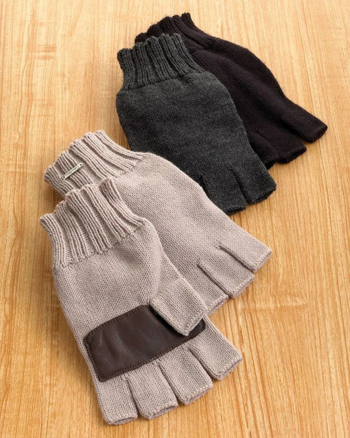 Calvin Klein Knit Fingerless Gloves
