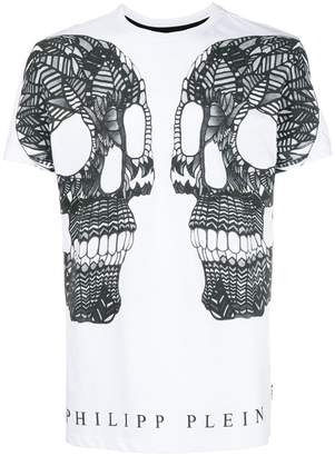 Philipp Plein double skull graphic T-shirt