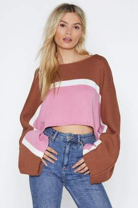Nasty Gal Very Neapolitan Cropped Sweater