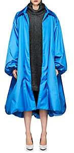 Balenciaga Women's Canvas Oversized Coat - Blue