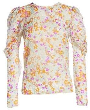 See by Chloe Velvet Burnout Floral Blouse