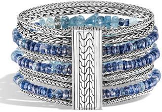 John Hardy Classic Chain Multi-Row Bead Bracelet, Size M