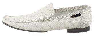 Versace Python Pointed-Toe Loafers
