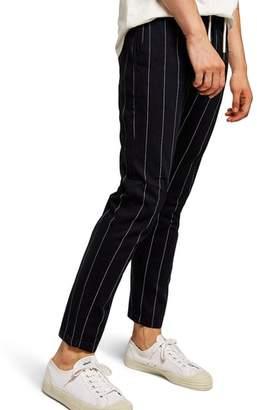 Topman Pinstripe Skinny Trousers