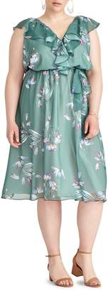 Rachel Roy Plus Odele Floral-Print Knee-Length Dress