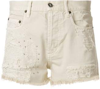 Faith Connexion distressed denim fitted shorts