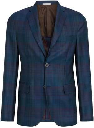 Pal Zileri Wool-Silk Check Blazer