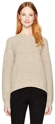 Vince Women's Cropped Saddle Pullover