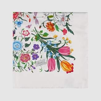 Gucci Flora silk printed scarf