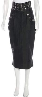 Thomas Wylde Embellished Pencil Skirt