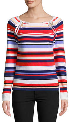 Lord & Taylor Petite Multi Striped Sweater