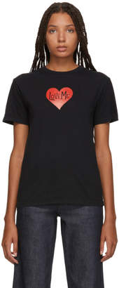 ALEXACHUNG Black Love Me T-Shirt