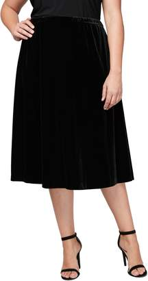 Alex Evenings Velvet Skirt