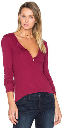 LA Made Alex Henley Tee in Red $61 thestylecure.com