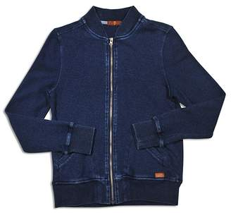 7 For All Mankind Boys' French Terry Bomber Jacket - Big Kid $75 thestylecure.com