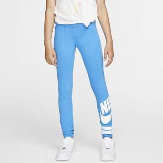 Nike Big Kids' (Girls') Graphic Leggings Sportswear