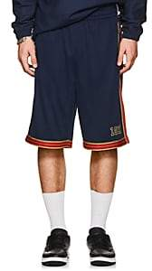 Fila Men's Metallic-Striped Logo Mesh Shorts-Navy