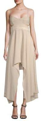 Halston Cut-Out Sweetheart Midi Dress