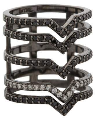 Paige Novick Phyne by 14K Diamond 5 Bar Kiss Ring
