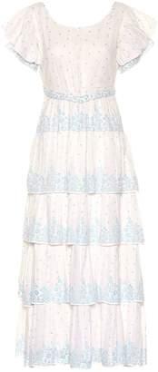 LoveShackFancy Martine cotton voile maxi dress