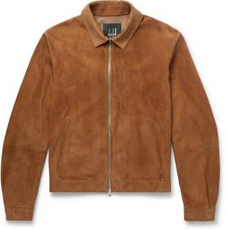 Dunhill Slim-Fit Suede Blouson Jacket
