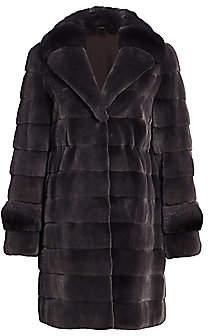 The Fur Salon Women's Mink & Chincilla Fur Coat
