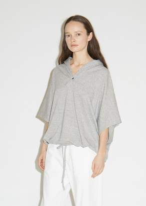 Y's Cropped Cotton M-Hood Pullover