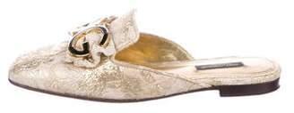 Dolce & Gabbana Metallic Logo Mules