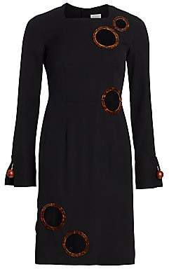 Burberry Women's Silk-Blend Cutout Sheath Dress