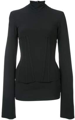 Ellery corset fitted turtleneck top