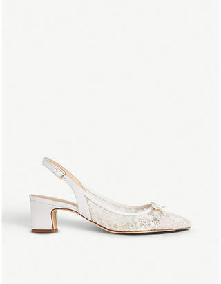 LK Bennett x Jenny Packham Parris lace and leather courts