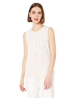 Karl Lagerfeld Paris Women's Foldover Neck Sleeveless Top
