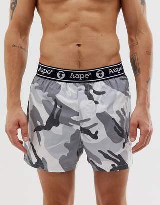 Aape By AAPE By camo boxer short in white