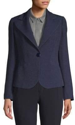 Emporio Armani One-Button Melange Jacket