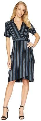 Nanette Lepore Serenity Stripe Wrap Shirtdress Women's Dress