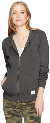 RVCA Women's Label Burnout Zip up Hoodie
