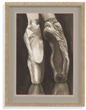 Bassett Mirror Hollywood Glam 'Ballet Shoes I' Framed Painting Print
