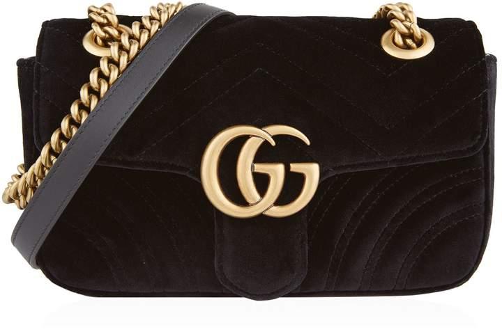 0aae67256 Gucci Mini Marmont Matelassé Shoulder Bag - ShopStyle Evening