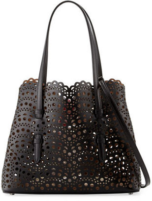 ALAIA Very Classic Laser Cut Mini Tote Bag $2,240 thestylecure.com