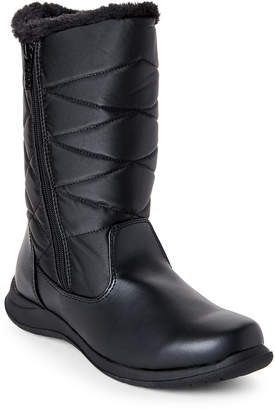 totes Black Edgen Quilted Snow Boots