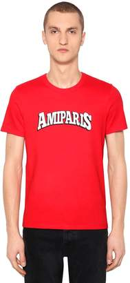 Ami Alexandre Mattiussi Logo Printed Cotton Jersey T-Shirt