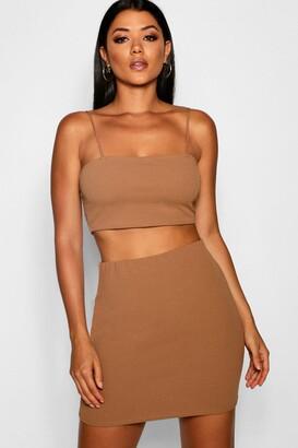 boohoo Strappy Crop & Mini Skirt Co-ord Set