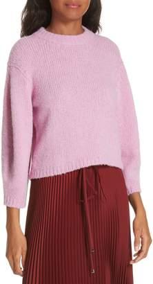 Tibi Cozette Alpaca & Wool Blend Crop Sweater