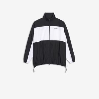 088c3608b Balenciaga Zip-Up Jacket in black and white jacquard poplin