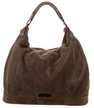 Burberry Perforated Suede Hobo