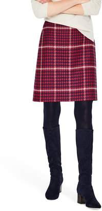 Boden British Tweed Wool Mini Skirt