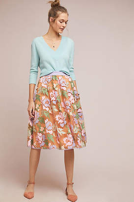 89a7aeadb5 Maeve Pixilated Tulle Midi Skirt