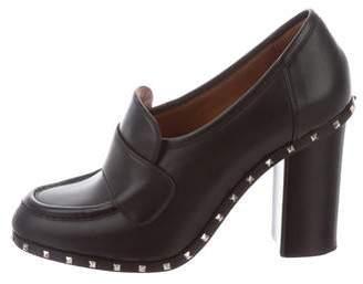 Valentino Soul Rockstud Leather Loafer Pumps